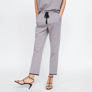 ZARA Checked Jogging Trousers